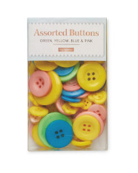 Green, Yellow and Blue Button Box
