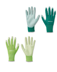 Green Gardening Gloves 2 Pack