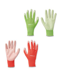 Green & Pink Gardening Gloves 2 Pack