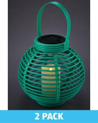 Green  Solar Lanterns 2 Pack