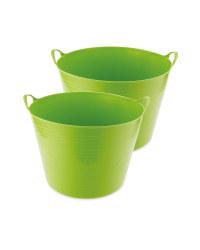Green 43L Garden Tub 2 Pack