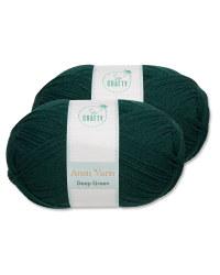 So Crafty Green Aran Yarn 2 Pack