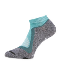 Green/Grey Cycling Ankle Socks