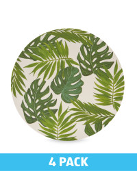 Green Leaf Bamboo Plates 4 Pack