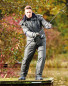 Green Men's Padded Fishing Trousers