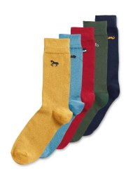 Green Multi Socks 5 Pack