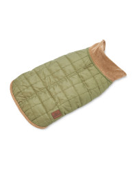 Green Quilted Dog Coat