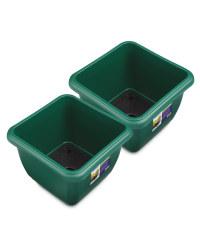 Green Self Watering Pot 2 Pack