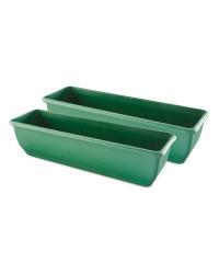 Green Self Watering Trough 2 Pack