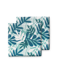 Green Tropical Outdoor Seat Pads
