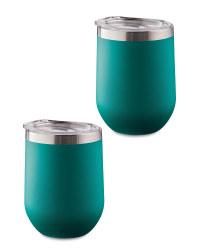 Green Tumblers 2 Pack