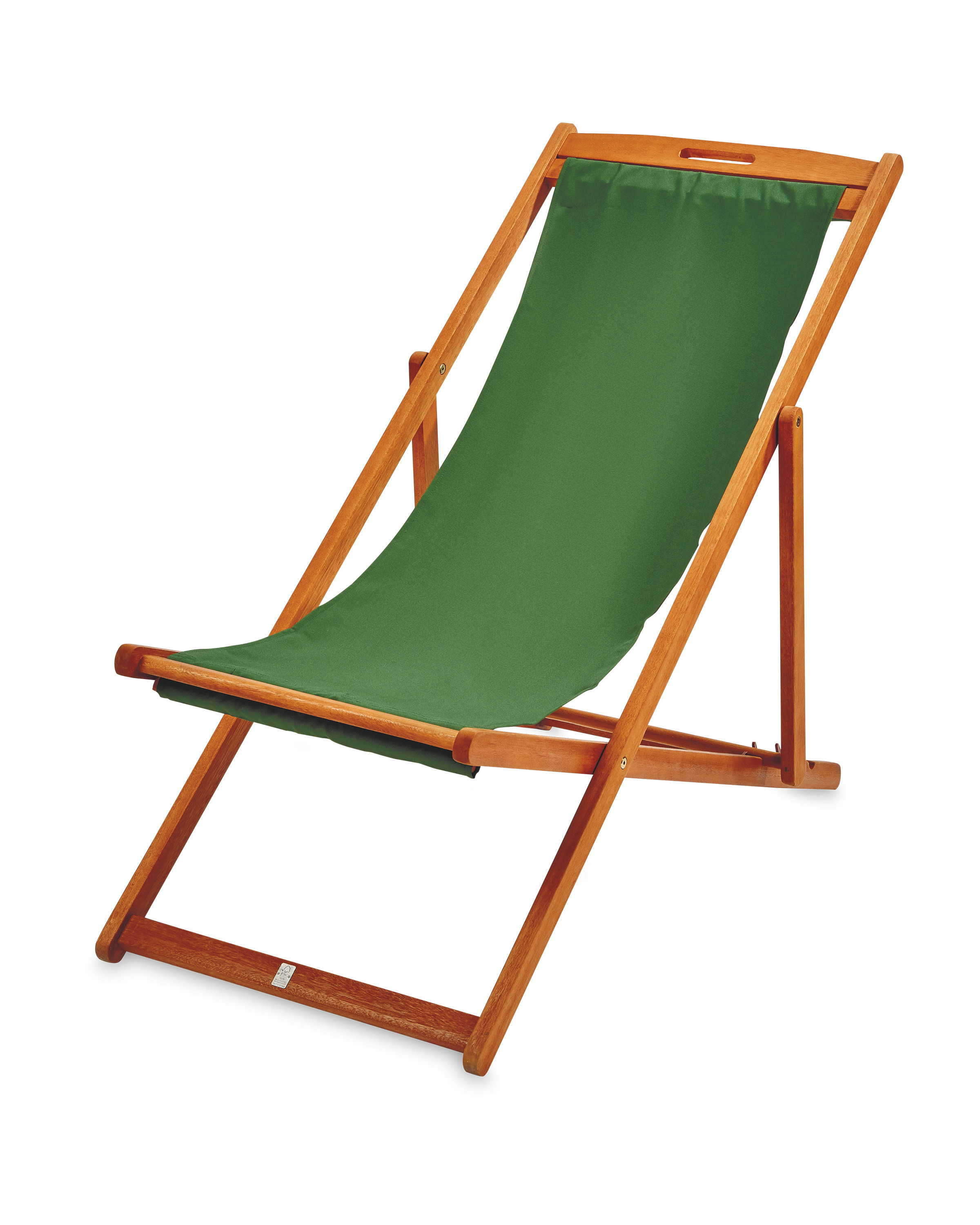 Green Wooden Deck Chair