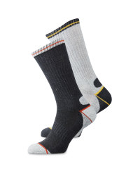 Grey, Yellow & Orange Socks 2 Pack