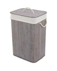 Grey  Bamboo Laundry Basket