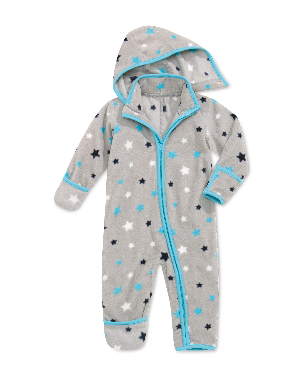 Grey Baby Fleece All-In-One