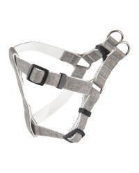Grey Bamboo Strap Dog Harness