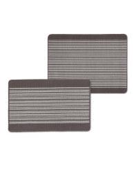 Grey Barcode Kitchen/Utility Mat Set