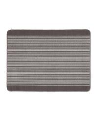 Grey Barcode Washable Utility Mat