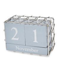 Grey/Silver Perpetual Calendar