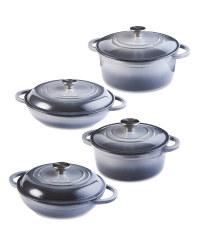 Grey Cast Iron Cookware 4 Pack