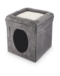 Pet Collection Grey Cat Ottoman Box