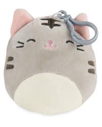Grey Cat Squishmallow Keyring