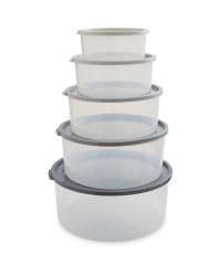 Grey Circle Nestable Food Storage