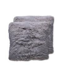 Grey Cosy Cushion 2 Pack