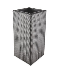 Grey Cubic Rattan Effect Planter