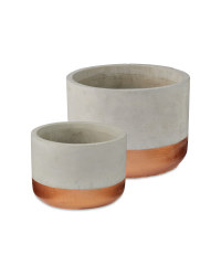 Grey Decorative Pot 2 Pack