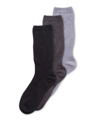 Grey Diabetic Friendly Socks 3 Pack