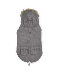 Grey Larger Dog Parka Jacket