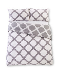 Grey Double Printed Duvet Set