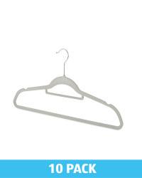 Grey Flocked Coat Hangers