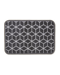 Grey Geometric Washable Pet Boot Mat