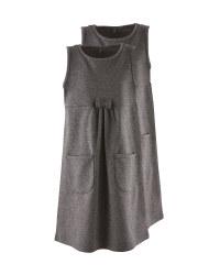 Grey Jersey Pinafore 2 Pack