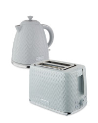 Grey Kettle and Toaster