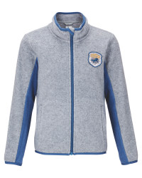 Grey Kids' Fleece Riding Jacket