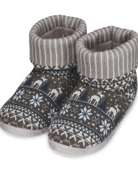Avenue Men's Grey Knitted Boots