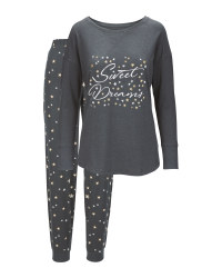Grey Ladies' Glitter Pyjamas