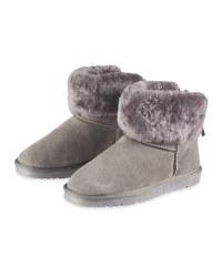 Avenue Grey Lambskin Lined Boots