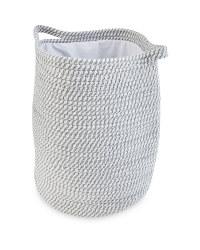 Grey Rope Style Laundry Basket