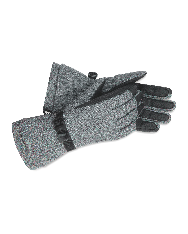 Inoc Grey Ski Gloves