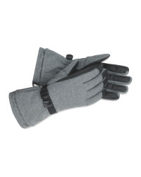 Inoc Grey Ski Gloves