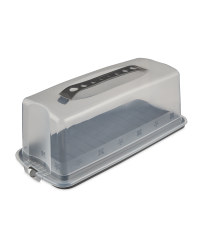 Grey Oblong Cake Container
