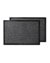 Grey Pattern Twin Pack Utility Mats