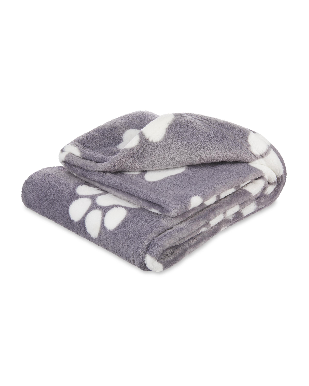 Grey Paws Soft Pet Blanket