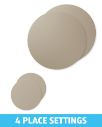 Grey Placemat & Coaster Bundle