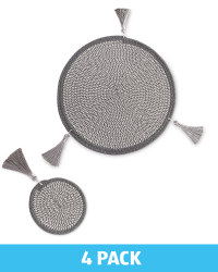 Grey Placemats & Coasters Set of 2