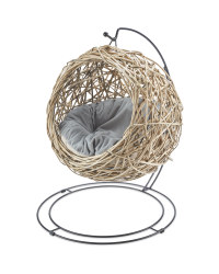 Grey Rattan Cat Egg Chair